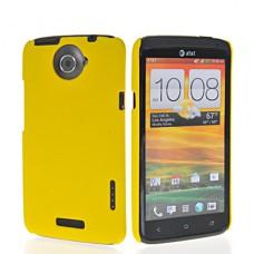 Желтый пластиковый чехол для HTC One X/One X+