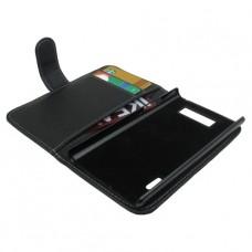 Черный чехол горизонтальная книжка для LG Optimus L7