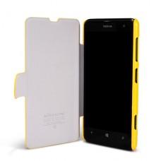 Желтый чехол книжка Nillkin для Nokia Lumia 625