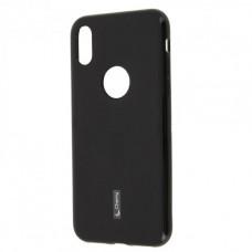 Черный (Cherry) силиконовый чехол для iPhone X/Xs