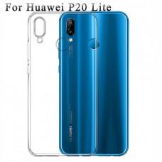 Прозрачный силиконовый чехол для Huawei P20 lite