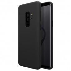 Черный силиконовый чехол для Samsung Galaxy S9 plus