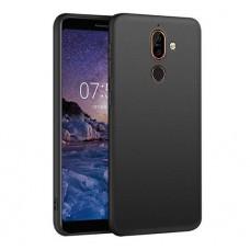 Черный силиконовый чехол для Nokia 7 plus