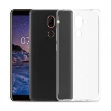 Прозрачный силиконовый чехол для Nokia 7 plus