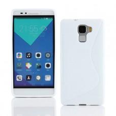 Белый силиконовый чехол для Huawei Honor 7
