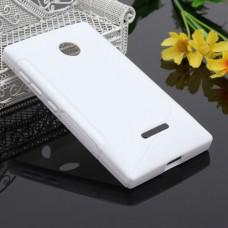 Белый силиконовый чехол для Nokia Lumia 435/532