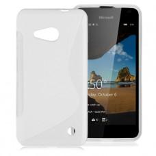 Белый силиконовый чехол для Nokia Lumia 550