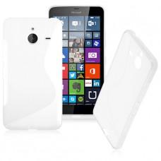 Белый силиконовый чехол для Nokia Lumia 640XL