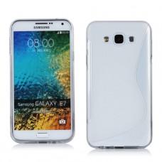 Белый силиконовый чехол для Samsung Galaxy E7