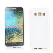 Белый силиконовый чехол для Smsung Galaxy E5
