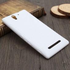 Белый силиконовый чехол для Sony Xperia C3