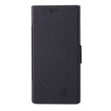 Черный чехол книжка Nillkin для Huawei Ascend P2