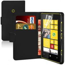 Кожаный чехол - книжка для Nokia Lumia 520/525