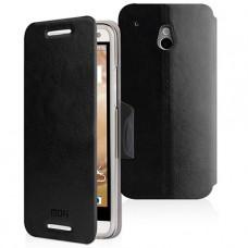 Черный чехол книжка Mofi для HTC One mini