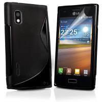 Черный силиконовый чехол для LG Optimus L5