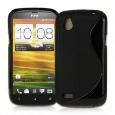 Черный силиконовый чехол для HTC Desire V
