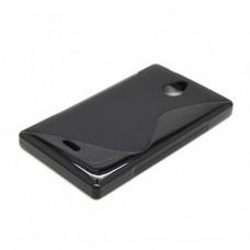 Черный силиконовый чехол для Nokia X2