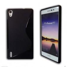Черный силиконовый чехол для Huawei Ascend P7