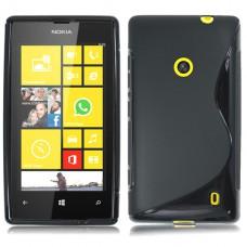 Черный силиконовый чехол для Nokia Lumia 520/525