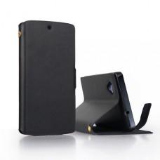 Чехол книжка из натуральной кожи для LG Nexus 5
