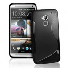 Черный силиконовый чехол для HTC One Max