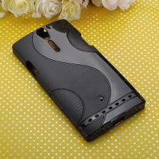 Черный силиконовый чехол для Sony Xperia S (lt26i)