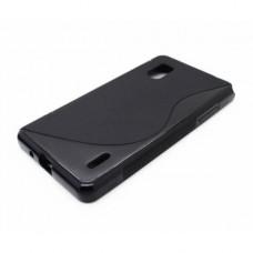 Черный силиконовый чехол для LG Optimus G