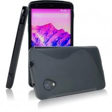 Черный силиконовый чехол для LG Nexus 5