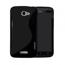 Черный силиконовый чехол для HTC One X/One X+