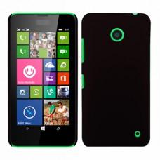 Черный пластиковый чехол для Nokia Lumia 630/635