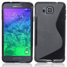 Черный силиконовый чехол для Samsung Galaxy Alpha