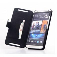 Чехол книжка из натуральной кожи для HTC One Max