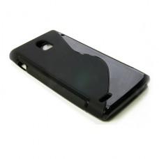 Черный силиконовый чехол для Huawei Ascend P1 U9200