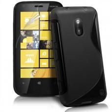 Черный силикноновый чехол для Nokia Lumia 620