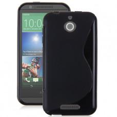 Черный силиконовый чехол для HTC Desire 510