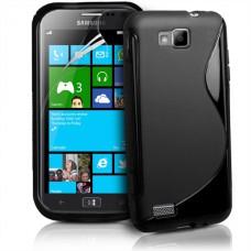 Черный силиконовый чехол для Samsung Ativ S