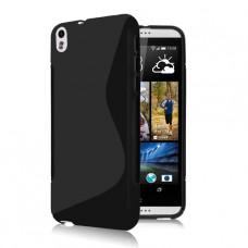 Черный силиконовый чехол для HTC Desire 800/816