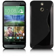 Черный силиконовый чехол для HTC One (E8)