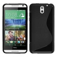 Черный силиконовый чехол для HTC Desire 610