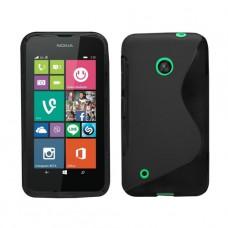 Черный силиконовый чехол для Nokia Lumia 530