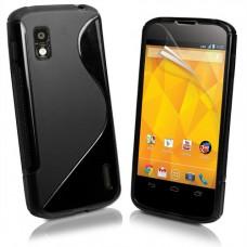 Черный силиконовый чехол для LG Nexus 4