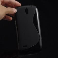 Черный силиконовый чехол для Huawei Ascend G610