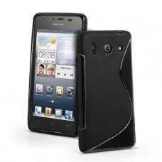 Черный силиконовый чехол для Huawei Ascend G510