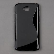 Черный силиконовый чехол для LG G Pro lite dual