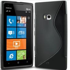 Черный силиконовый чехол для Nokia Lumia 900
