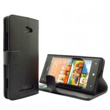 Черный чехол книжка для HTC Windows Phone 8X