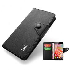 Черный чехол книжка IMak для Alcatel One Touch Idol(6030D)