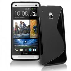 Черный силиконовый чехол для HTC One mini