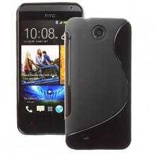 Черный силиконовый чехол для HTC Desire 300