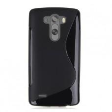 Черный силиконовый чехол для LG G3 (D855)